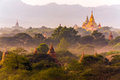 Pagoda landscape in Bagan Royalty Free Stock Photo