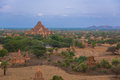Pagoda of old bagan ancient city burma Royalty Free Stock Photos
