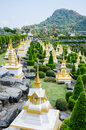 Pagoda in pattaya thailandnong nooch tropical garden desig beautiful nong botanical design thailand Royalty Free Stock Photography