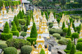 Pagoda in pattaya thailandnong nooch tropical garden desig beautiful nong botanical design thailand Stock Photos