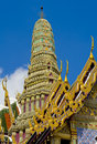 Pagoda in the royal palace in bangkok Stock Photo