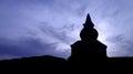 Pagoda ruin silhouette Royalty Free Stock Photo