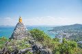 Pagoda with sea and blue sky this photo i just take from thailand Royalty Free Stock Photos