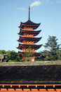 Pagoda at Senjokaku Temple, Miyajima, Japan Stock Photography