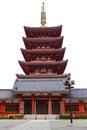 Pagoda at Sensoji Asakusa Temple Royalty Free Stock Photo