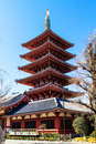 Pagoda at sensoji asakusa temple japan tokyo Royalty Free Stock Photos