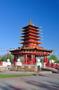 Pagoda of seven days elista republic of kalmykia russia buddhist temple Stock Photography