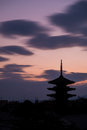 Pagoda Silhouette Royalty Free Stock Photo