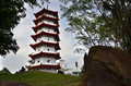 Pagoda in Singapore Chinese Garden in Singapore Royalty Free Stock Photo