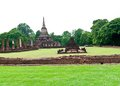 Pagoda at Sukhothai Historical Park. Stock Photo