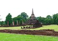 Pagoda at Sukhothai Historical Park. Stock Photography