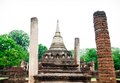 Pagoda at Sukhothai Historical Park. Royalty Free Stock Photos