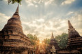 Pagoda at Sukhothai historical park Royalty Free Stock Photo