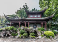 Pagoda temple Kowloon Walled City Park Hong Kong Royalty Free Stock Photo