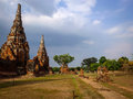 Pagoda temple or old exotics are very abundant in the city of ayutthaya Stock Photos