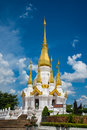 Pagoda a in the temple of thailand Royalty Free Stock Photo