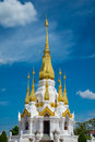 Pagoda a in the temple of thailand Stock Photo