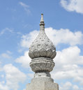 Pagoda temple the towering spire beautiful sunrise Royalty Free Stock Photography