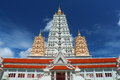 Pagoda in thai temple beautiful at chonburi thailand Stock Image