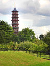 Pagoda tower in kew gardens towers richmond surrey london uk Royalty Free Stock Photos