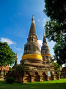 Pagoda tower of thailand in on the day the sky is clear Royalty Free Stock Photography