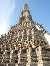 Pagoda in the Wat Arun (Temple of the Dawn) Stock Photography