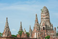 Pagoda at Wat Chaiwattanaram Temple, Royalty Free Stock Images