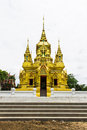 Pagoda in wat kamat in chomthong chiangmai thailand Royalty Free Stock Photo