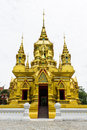 Pagoda in wat kamat in chomthong chiangmai thailand Royalty Free Stock Photography