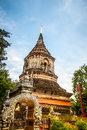 Pagoda of wat lok moli sometimes also seen written as molee is a buddhist temple thai language in chiang mai northern thailand Stock Image