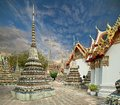 Pagoda wat pho sunset twilight buddhist temple in bangkok asia thailand Stock Photo