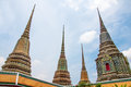 Pagoda of wat pho temple in bangkok thailand Stock Photos