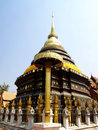Pagoda of wat phratat lampang luang in thailand Royalty Free Stock Photos