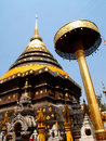 Pagoda of wat phratat lampang luang in thailand Stock Photography
