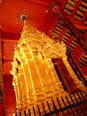 Pagoda of wat phratat lampang luang in thailand Royalty Free Stock Photo
