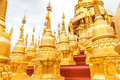 Pagoda in wat sawangboon at saraburi thailand Royalty Free Stock Photos