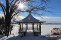 Pagoda in Winter Royalty Free Stock Photo