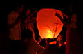 Pahang malaysia sept people release sky lanterns to worshi worship buddha s relics on september in kuantan this festival Stock Photography