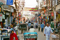 Paharganj the main bazaar and tourist attraction in the center of new delhi india Stock Photo