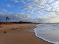Pahohaku Beach at Dusk Royalty Free Stock Photo