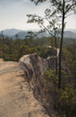 Pai canyon footpath in kong lan in mae hong son northern thailand Royalty Free Stock Image