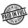 Paid In Full rubber stamp Royalty Free Stock Photo