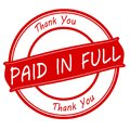 Paid in full Royalty Free Stock Photo