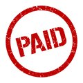 paid stamp Royalty Free Stock Photo