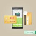 Paiement mobile Photo stock