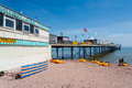 Paignton pier is a pleasure in the large english seaside resort devon it was financed by arthur hyde dendy a local Stock Image