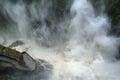 Pailon del diablo waterfall ecuador in a rainy day Stock Images