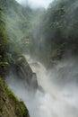 Pailon del diablo waterfall ecuador in a rainy day Stock Photos