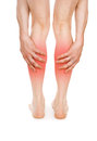 Pain in the legs Royalty Free Stock Images