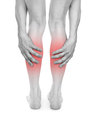 Pain in the legs Royalty Free Stock Photography